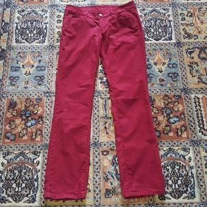 ANN TAYLOR dark red cord jeans size 2P